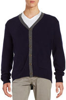 Black Brown 1826 V-neck Wool-Blend Cardigan
