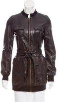 Diane von Furstenberg Longline Leather Jacket
