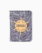 Charming charlie Boss Badge Passport Cover