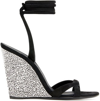 Giuseppe Zanotti Crystal Embellished Wedge Sandals