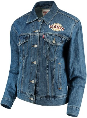 Levi's Women's San Francisco Giants Patch Trucker Denim Jacket