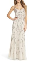 Adrianna Papell Women's Mesh Blouson Gown