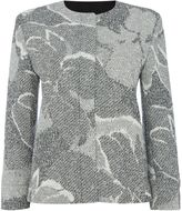 HUGO BOSS Longsleeve floral print knitted jacket