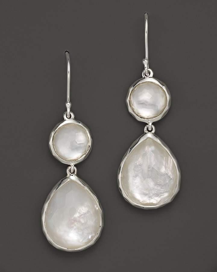 Ippolita Sterling Silver Wonderland Teardrop Snowman Doublet Earrings in Mother-of-Pearl