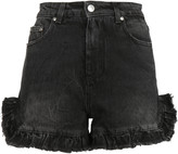 MSGM Ruffle Trim Denim Shorts