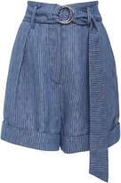 Mara Hoffman Striped Denim Shorts