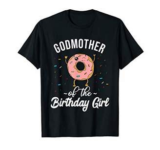 Godmother of the Birthday Girl Funny Donut T-Shirt