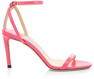 Jimmy Choo Minny Ankle-Strap Patent Sandals
