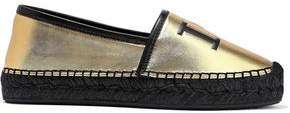 Dolce & Gabbana Printed Metallic Leather Espadrilles