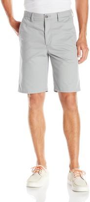 Haggar Men's Eco Straight Fit Flex Waistband Plain Front Twill Short