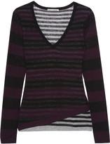 Autumn Cashmere Layered striped cashmere sweater
