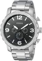Fossil Men's JR1353 Nate -Tone Stainless Steel Chronograph Watch