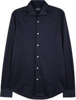 Pal Zileri Navy Cotton Jersey Shirt
