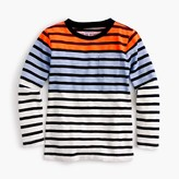 J.Crew Boys' long-sleeve colorblock striped T-shirt