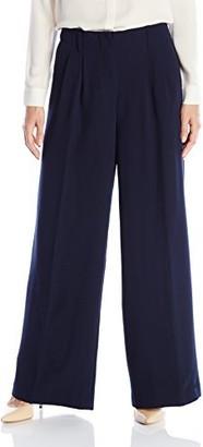 Nanette Lepore Women's Strech Crepe Wide Leg Trouser