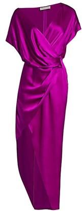 Mason by Michelle Mason Wide-Neck Silk Wrap Dress