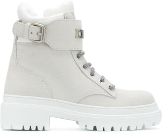 Iceberg Chunky Sole Lace-Up Boots