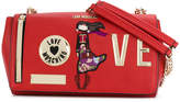 Love Moschino chained patches shoulder bag