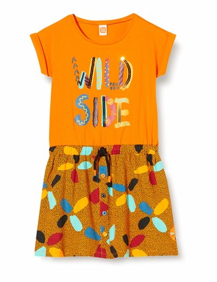 Tuc Tuc Orange Pockets Jersey Dress for Girl Wild Side