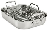 """All-Clad 11"""" x 14"""" Stainless Steel Roaster & Rack"""