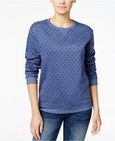 Karen Scott Polka-Dot Sweatshirt, Only at Macy's