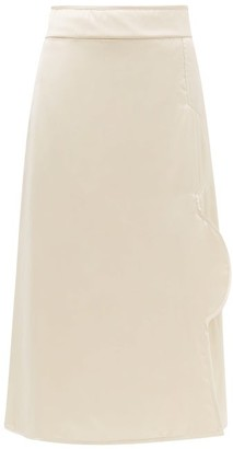 Jil Sander Padded Midi Skirt - Womens - Light Pink