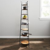 Crate & Barrel Enclume ® Standing 8-Tier Pot Rack with Wood Trivets