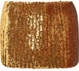Marc Jacobs Sequined Wool Mini Skirt - Gold