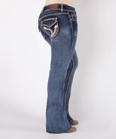Blue Delano Curvy Flare Jeans - Plus