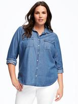 Old Navy Classic Chambray Plus-Size Shirt