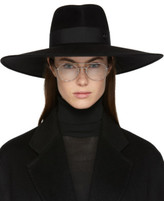 Maison Michel Black Large Pina Fedora