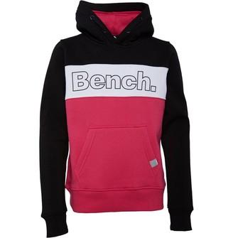 Bench Junior Girls Paz Hoodie Pink/Black