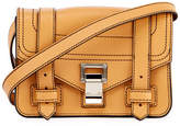 Proenza Schouler PS1 Mini Leather Crossbody Bag, Beige