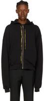 Haider Ackermann Black Embroidered Zip Hoodie