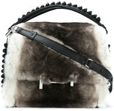 Tod's double T furry tote bag