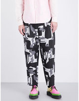 Comme Des Garcons Homme Plus Camouflage-pattern Wide-leg Tapered Twill Trousers