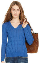 Polo Ralph Lauren Cable Pima V-Neck Sweater