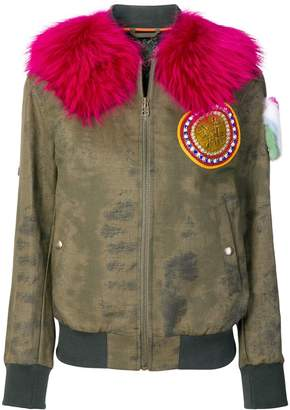 Mr & Mrs Italy fur arm patch bomber