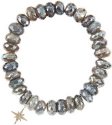 Sydney Evan Jewelry 10mm Mystic Labradorite Beaded Bracelet with 14k Gold/Diamond Small Starburst Charm (Made to Order)