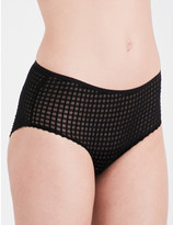 Only Hearts Windowpane heart hipster briefs