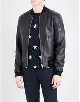 Sandro Reversible leather bomber jacket