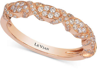 LeVian Le Vian Braided Diamond Band (1/3 ct. t.w.) in 14k Rose Gold