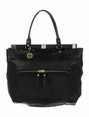 Lanvin Leather Frame Tote Black