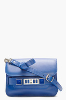 Proenza Schouler Royal Blue Leather Mini PS11 Shoulder Bag
