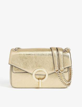Sandro YZA metallic leather shoulder bag
