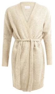 Coster Copenhagen - Long Cardigan With High Rib And Tieband Colour Hazel - S