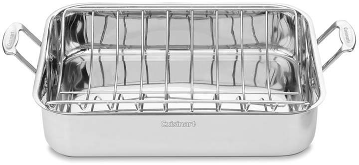 """Cuisinart Chef's Classic Stainless Steel 16"""" Roaster with Roasting Rack"""