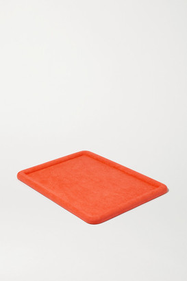 LAUREN RUBINSKI Suede Jewelry Tray - Orange