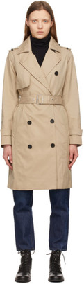 Mackage Beige Down Isla 2-In-1 Trench Coat