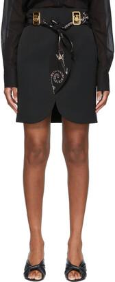 Lanvin Black Twill Belted Miniskirt